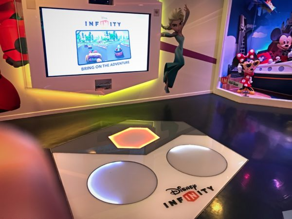 You can even play Disney Infinity, Disney's own video game!