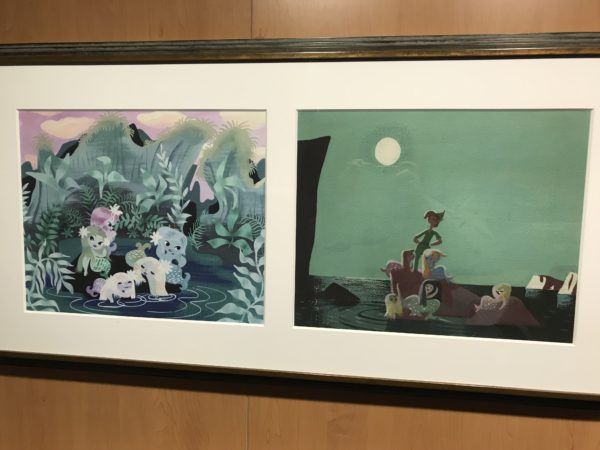 """Peter Pan"" (1953). Concept art created for the film. These panels are examples of how artists experiment with many different styles when creating the look for a film."