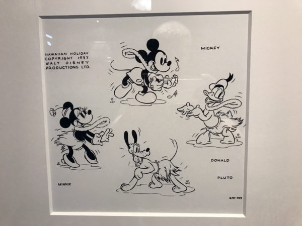 """Hawaiian Holiday"" (1937). Concept sketches created for the Disney short. These sketches represent character studies designed to explore poses and concepts for the Disney animated short."