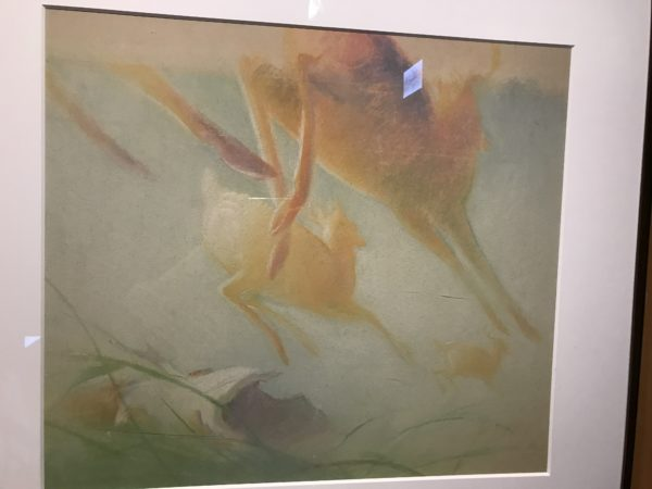 """""""Bambi"""" (1942). Concept art for the film. These high concept pieces represent more of the mood the film makers were after than actual compositional ideas for the final film."""