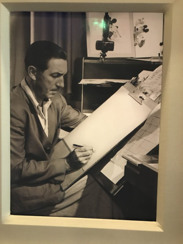 Walt was actively involved in the animation of the early movies.