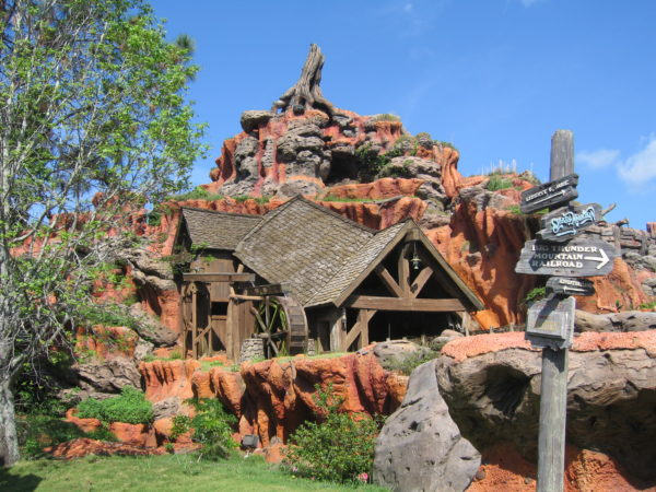 Splash Mountain may have been Plan B, but it still uses the orange color of the American Desert.