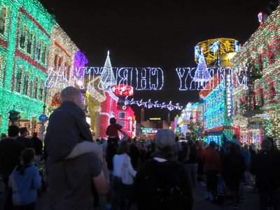 Osborne Christmas Lights Street Crowd