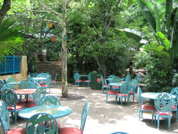 Flame Tree Barbecue has plenty of outdoor seating in a beautifully shades oasis!