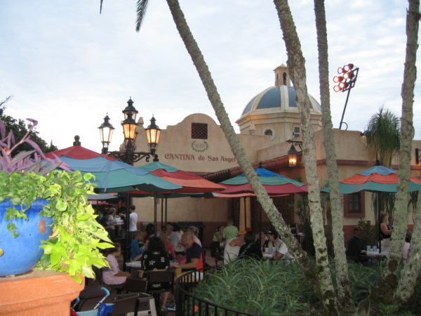 There is plenty of outdoor dining in the Mexico pavilion in Epcot's World Showcase!