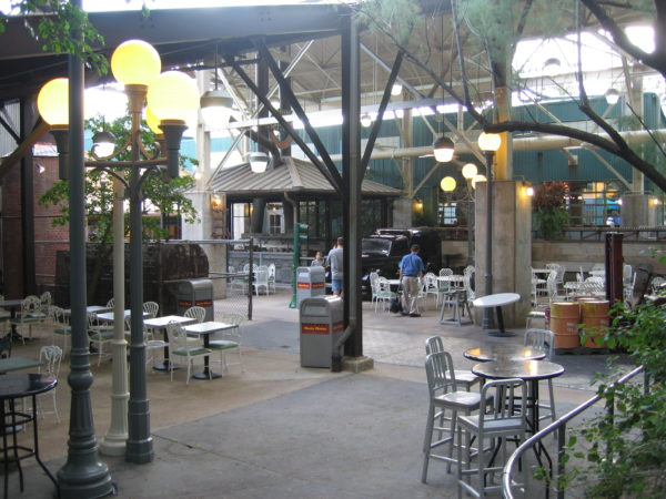 Backlot Express has plenty of outdoor seating even in a socially distanced setting.
