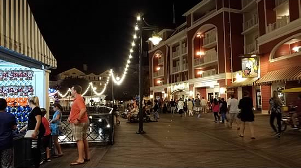 Take a walk on the boardwalk at night and be transported to another time.