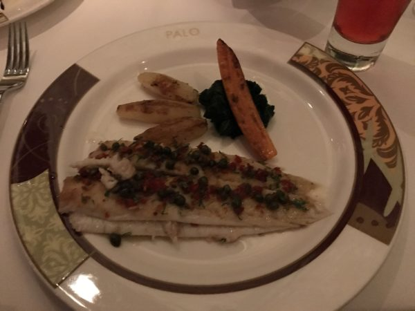 The Pinquant Dover Sole is filleted table side.