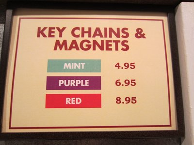By not putting the price on each magnet, shopping is a bit harder.