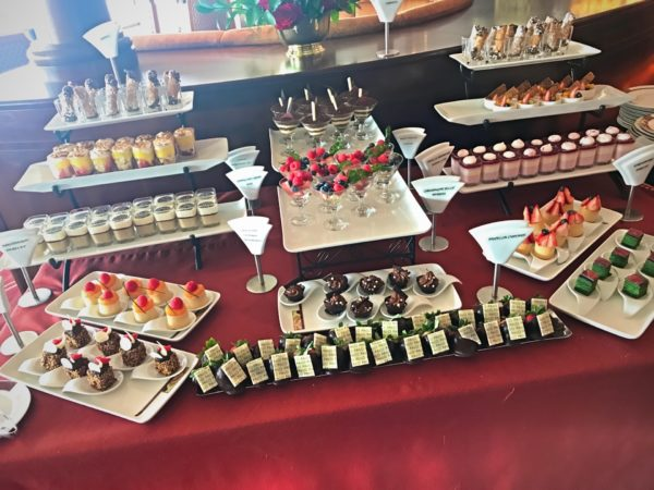 Finish your brunch off with something sweet from the dessert table!
