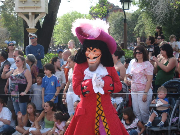 Captain Hook joined the villains on the Face Your Darkest Fears float.