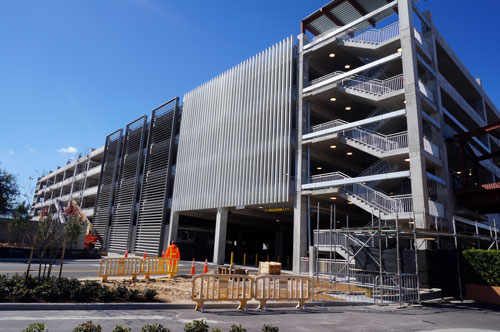 The East Parking Garage will open in 2016.