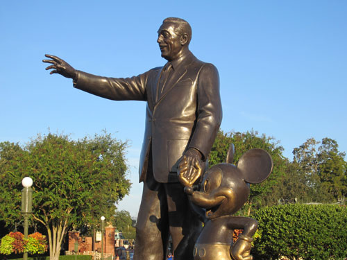 A lot of detail went into making Walt's statue perfect.