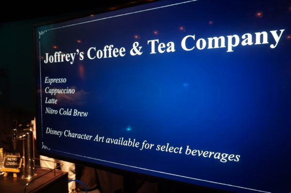 Joffrey's coffee and tea.