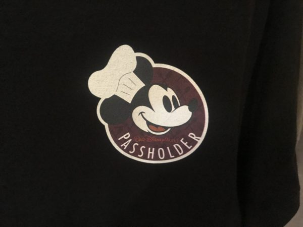 You can get this Chef Mickey Passholder logo on a t-shirt for $29.99.