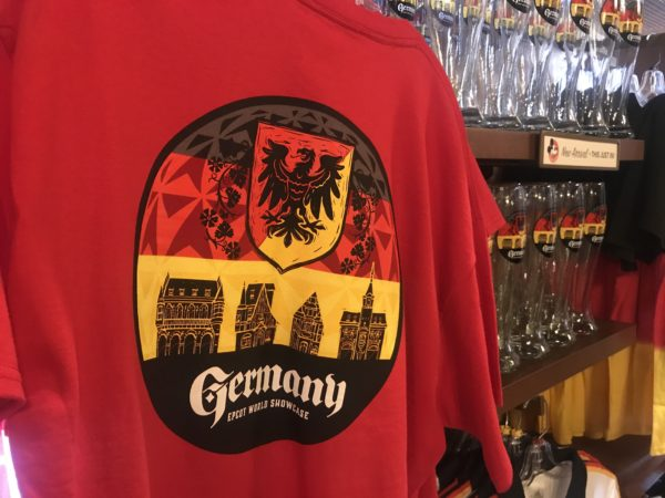 The store has a wide selection of German-themed merchandise, including this shirt.