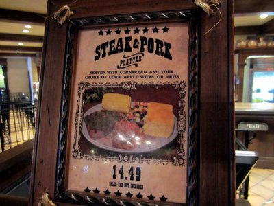 Pecos Bills Steak Sign