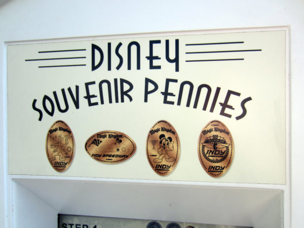 Disney Souvenir Pennies are fun and inexpensive.