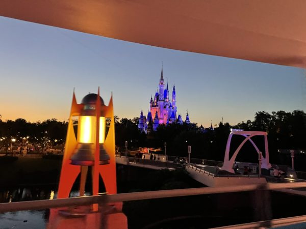 The PeopleMover provides some great view of Cinderella Castle.