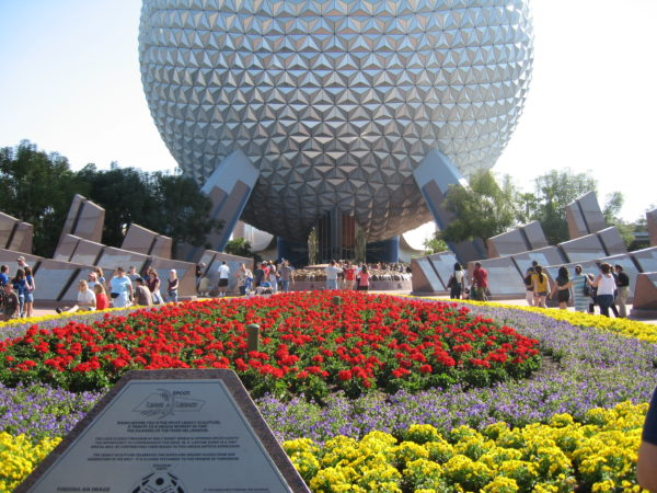 The Epcot entrance will look very different in just a couple short years!