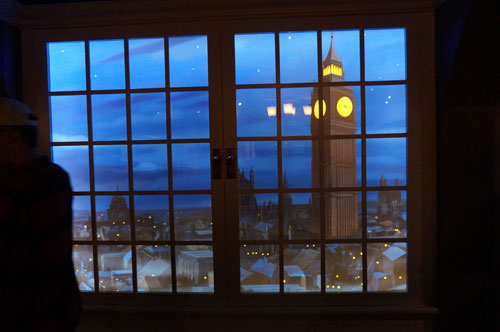 From inside the home, you can see the Darling's have a wonderful view of London.