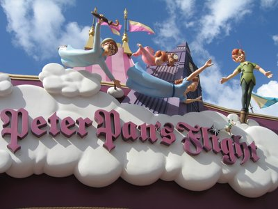 Soar over London in the classic dark ride Peter Pan's Flight.