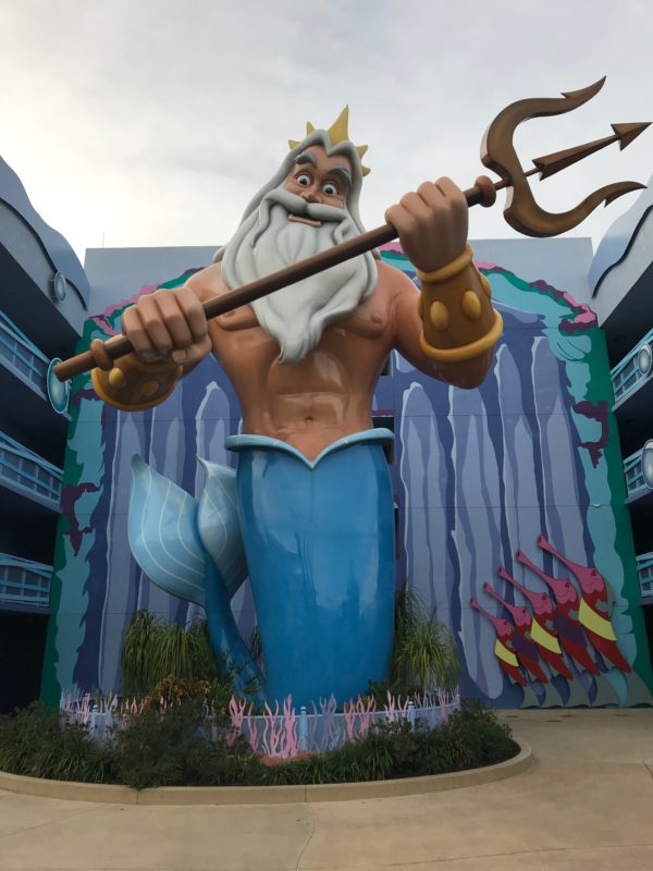 King Triton sits opposite of Ursula literally putting good against evil.