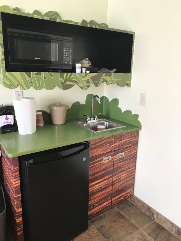 The studio kitchen was very convenient!