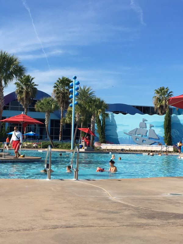 The Big Blue Pool is the largest pool at a Disney Resort Hotel!