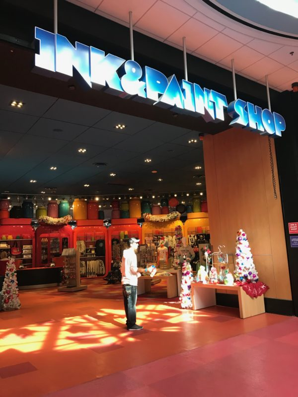 Ink & Paint Shop is Art of Animation's merchandise store! They sell everything from bandaids to wine!