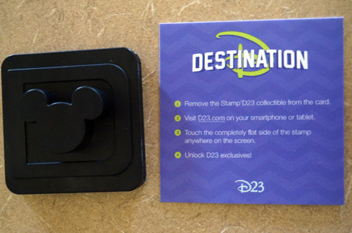 Very interesting device you hold up to your smart device to access special D23 videos.