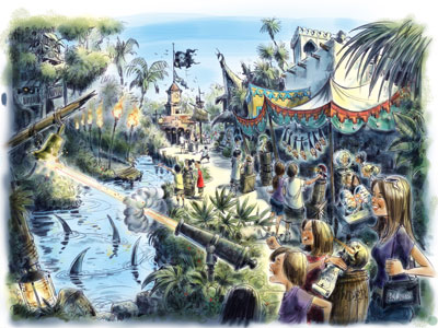 Pirate's Adventure concept art. Photo credits (C) Disney Enterprises, Inc. All Rights Reserved