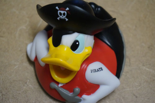 Rubber ducky - actually Donald Duck as a pirate!