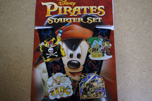 The prize pack includes this starter set of four pirates-themed pins.