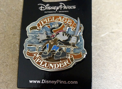 You also get this Pillage and Plunder pin with Mickey Mouse.
