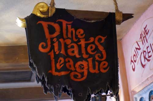 The Pirates League allows you to become a pirate for the day.