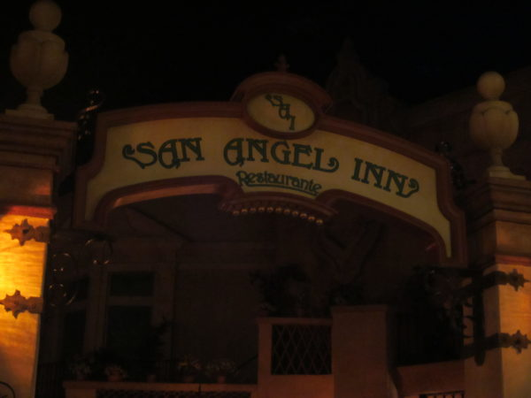 San Angel Inn is inside the perpetually twilit pyramid.