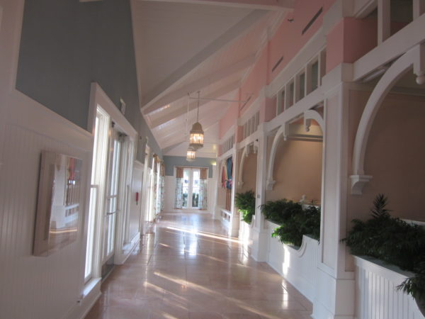 This hallway leads to a beautiful solarium where you can be alone with your work.