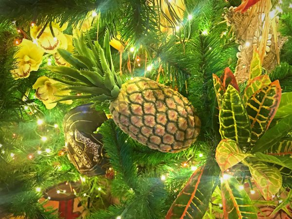 A pineapple ornament - very tropical.