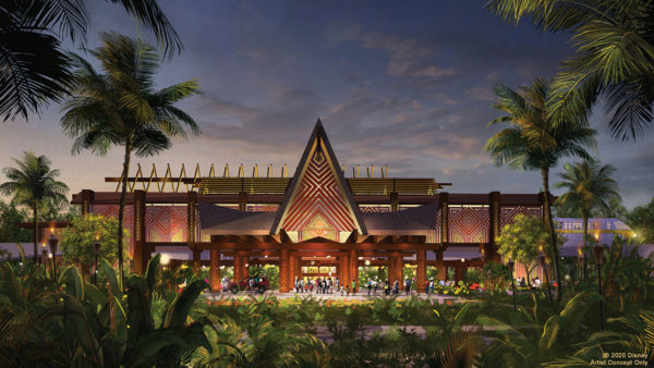 Concept art of the Disney's renovations to the Polynesian Village Resort.