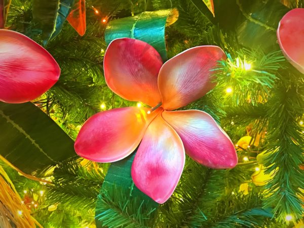 Gorgeous Hawaiian Hibiscus flower ornament.
