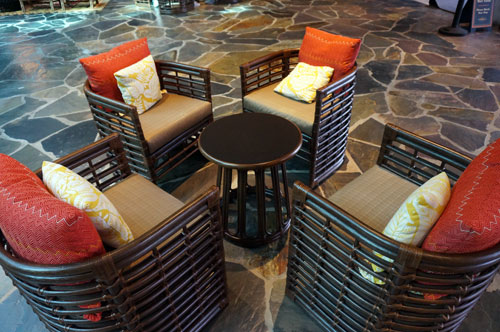 polynesian furniture. the furniture has a southseas flair polynesian