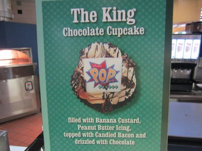 Sign for The King cupcake.