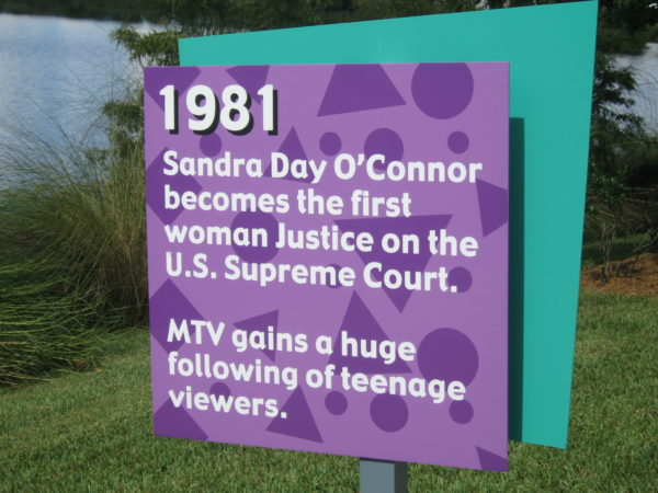 1981: Sandra Day O'Connor becomes the first woman Justice on the U.S. Supreme Court. MTV gains a huge following of teenage viewers.