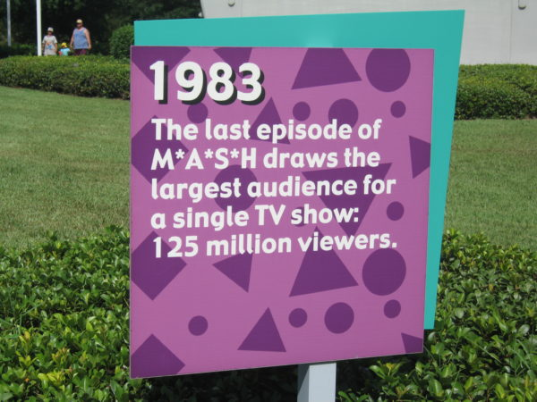 1983: The last episode of M*A*S*H draws the largest audience for a single TV show: 125 million viewers.