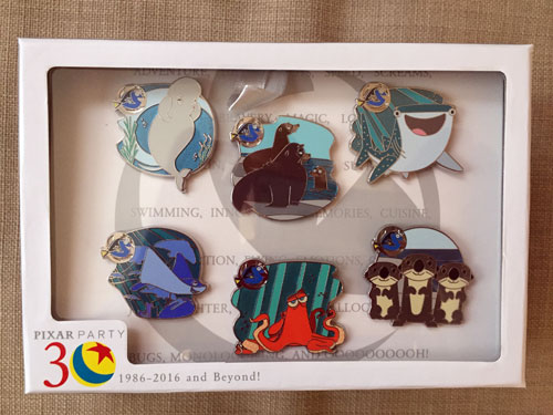 You could win this Pixar Party pack of six pins including characters from Finding Dory!