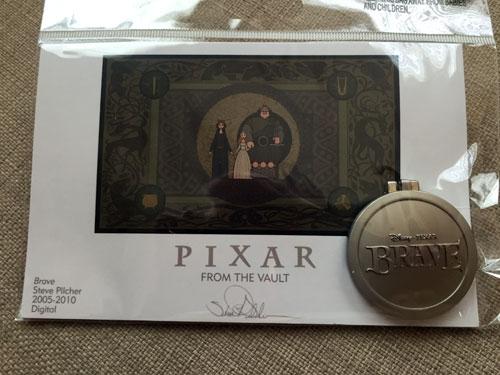 Pixar From the Vault: Brave emblem.