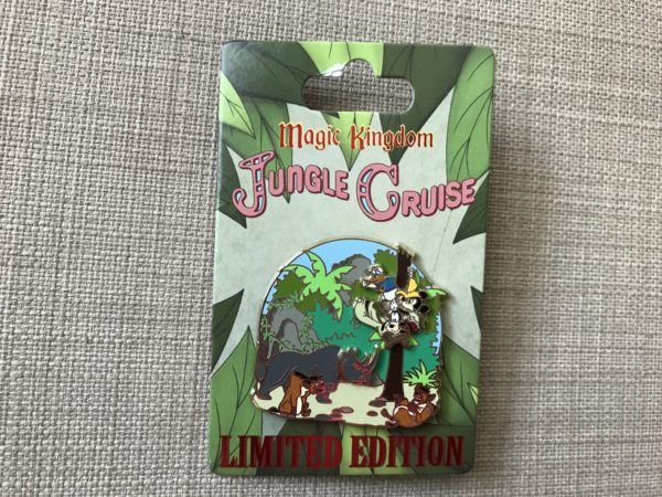 Limited Edition Jungle Cruise Mickey and Friends up a tree pin.