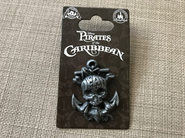 Dead Men Tell No Tales Skull and Anchor pin.