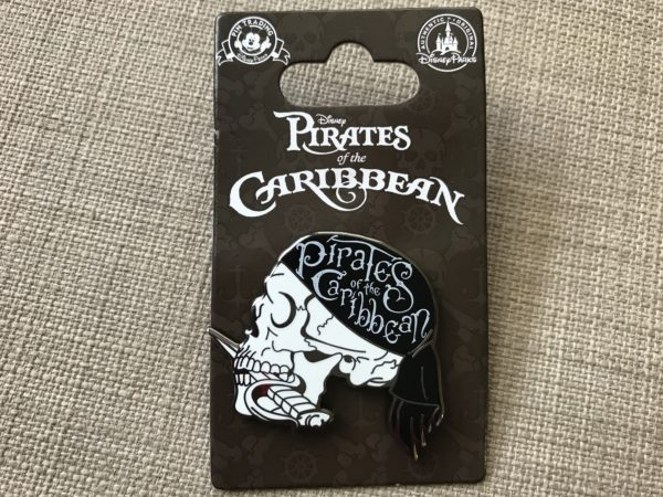 Pirates of the Caribbean Skull pin.